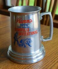 1974 Hamm's Aluminum Mug Sudsville Invitational Man & Bear