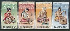 1982 TOKELAU HANDICRAFTS SET OF 4 FINE MINT MNH