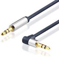 Audio Stereo Klinken Kabel 3,5mm Klinke Kopfhörer Phono gerade auf gewinkelte