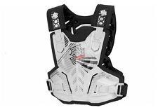 Polisport Rocksteady Joven Niños Motocross Body Armour-Blanco Mx Atv