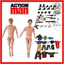 Action Man Action Figure Lot with Guns Accessories Clothes Bundle 1964 PaliToy