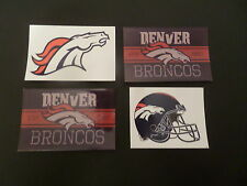 LOT OF 4-  DENVER BRONCOS NFL APPROVED BRAND NEW STICKERS
