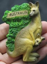 kangaroo Australia Animal Sign 3D Fridge Magnet Resin Sculpture Souvenir Forest