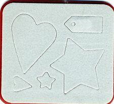 Sizzix - Sizzlits - Hearts, Stars & Tag