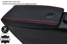 RED STITCHING REAL LEATHER ARMREST LID COVER FITS FIAT BARCHETTA 1995-2005