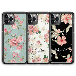 Personalised Floral Name Custom Phone Case For iPhone 13 Pro Max 12 Mini 11 XR X