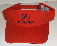 NEW ACURA ORANGE VISOR HAT