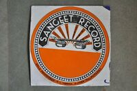 Vintage Sangeet Record Ad Porcelain Enamel Sign Board , Collectible