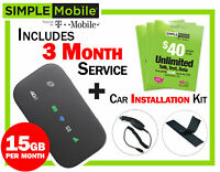 New Mobile Hotspot ZTE Z291 4G LTE + 3 months Simple Mobile $40 Plan 15GB/mo