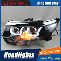 Headlights assembly For Ford Edge 2011-2014 Bi-xenon Lens Projector LED DRL