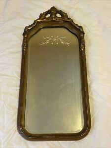 Antique Victorian Wall Mirror Beveled and Cut Glass