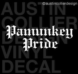"11 "" PAMUNKEY PRIDE Vinyl Decal Car Truck Window Sticker - Native American Tribe"