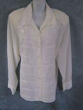 Karen Scott Blouse Plus Size 3X Dressy Sheer Embroidered NWOT