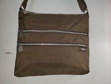 BAGGALLINI Brown Nylon Crossbody Shoulder Messenger Bag