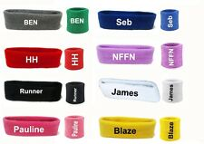 Personalized Sports Wrist Sweatbands, Headband Tennis Squash GYM Wristband UK