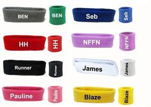 Personalized Sports Wrist Sweatbands, Headband Tennis Squash GYM Wristband UK