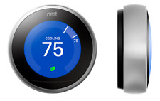 Nest smart thermostat, 3rd generation, learning, programmable, wifi, bluetooth