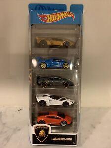 2020 Hot Wheels - Lamborghini 5 Pack - New Unopened Box