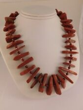 Red Jasper Sterling Silver Necklace Signed South Africa Meron Original Box