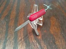 VICTORINOX SWISS ARMY RED 3 BLADE FOLDING POCKET KNIFE SCISSORS NAIL FILE