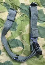 ORIGINAL! WWII/Korea OD7 US Helmet CHINSTRAP SET PAINTED BUCKLE &Flat Steel Hook