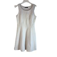 WHBM White House Black Market Knit Mini Dress With Pockets Ivory Size 6