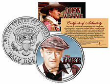 JOHN WAYNE - THE DUKE *The Quiet Man* JFK Kennedy Half Dollar US Coin *LICENSED*