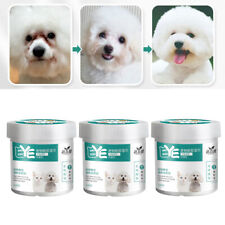 3 Box Natural Pet Eye Wipes, Dog Tear Stain Wipes Dog Cat Eye Crust Remover Pads