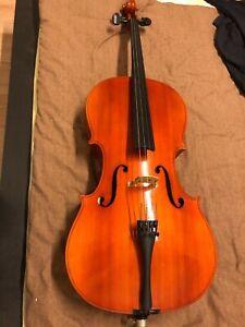 Violoncelle ancien entier Eberhard Meinhel copie Stradivarius + housse et archet