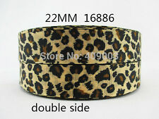"Leopard Print Ribbon 7/8"" (22mm) Wide 1m is £1.29 NEW........ UK SELLER FREE P&P"
