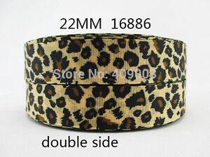 "Leopard Print Ribbon 7/8"" (22mm) Wide 1m is £1.49 NEW........ UK SELLER FREE P&P"