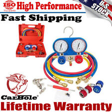 AC A/C Refrigeration Kit Manifold Gauge Set Air R12 R22 R134a 410a R404z Tools