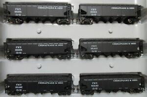 Athearn 72700 Chesapeake & Ohio C&O 40' Quad Hoppers 6-Pack