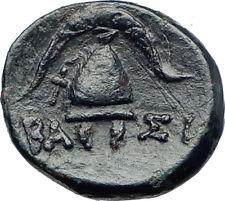 DEMETRIOS I Poliorketes MACEDONIA King Shield Helmet Ancient Greek Coin i73634