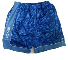 AND1 Basketball Shorts Mens 3XL Blue Elastic Waist Loose Fit Sports Athletic