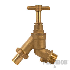 """Hose Union Tap Double Check Valve Outdoor Tap Brass 3/4"""" Tracked Delivery"""