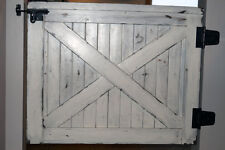"Custom Handmade Farmhouse Baby Pet Gate Distressed White Fixer Upper up to 36"""