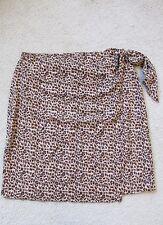 New with Tags Women's Diane Gilman Silk Leopard Print Wrap Skirt Plus Size 2X