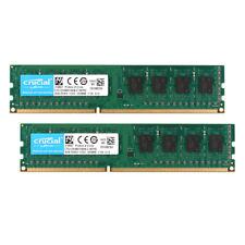 8GB Crucial 4GB 2pcs PC3-10600U 1.5V DDR3 1333 MHz 240pin PC Memory RAM DIMM @3H