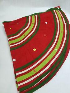 "52"" Luxehabitat Wool Christmas Tree Skirt Christmas"