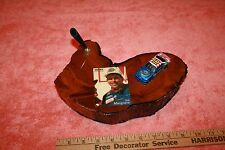 Vintage Cypress Wood NASCAR Ted Musgrave Card & Car Desk Pen Holder