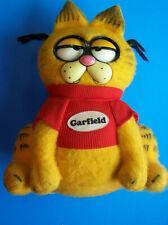 1983 GRUMPY GARFIELD CAT PULL STRING TALKING VINTAGE PLUSH TOY  Mattel  Works