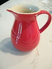 """Collectible Le Gourmet Chef Pottery Red Creamer 5.5"""" Pitcher"""