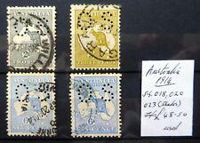 Australia 1914 CANGURO UFFICIALE PERFINS come descritto NC1933