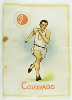 C.1910 University of Colorado Sports Tobacco Silk Vintage Original