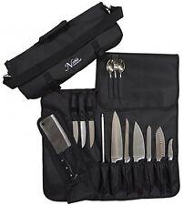 Chefs Knife Roll Bag (14 Slots) Holds 10 Knives  A Meat Cleaver Storage Holder