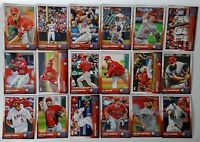 2015 Topps Series 1 & 2 Los Angeles Angels Team Set of 19 Baseball Cards