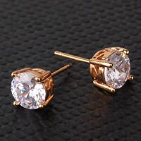 New arrival! Shining white sapphire lady 18K gold filled  stud earring