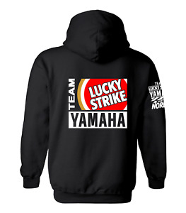 LUCKY STRIKE YAMAHA Motor Bike Inspired Hoody Hoodie Shirt