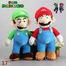 Super Mario Plush Toys Brother Mario & Luigi 17'' Soft Plush Stuffed Toy Doll
